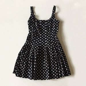 Lauren Ralph Lauren Black Polka Dot Dress Size 12